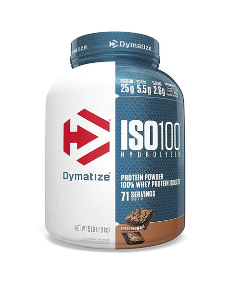 Dymatize Nutrition ISO 100 - 5 Lbs (FUDGE BROWNIE)