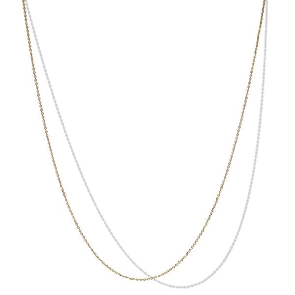 050 Gauge 10k Yellow Gold Rolo Necklace