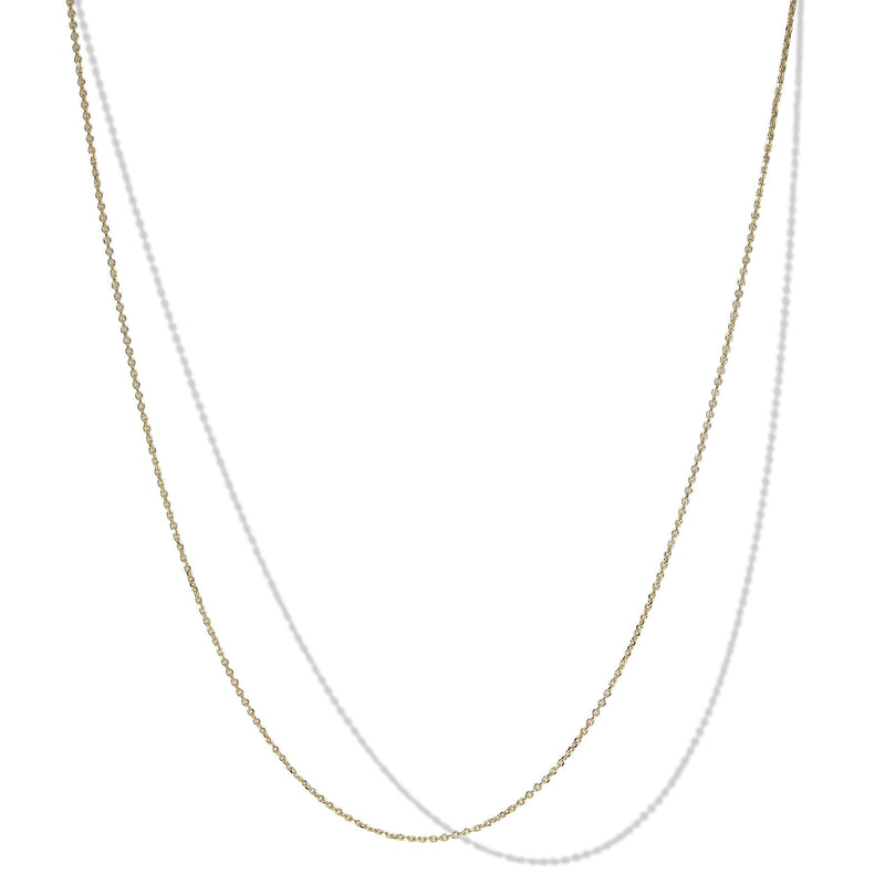 025 Gauge 10k Yellow Gold Rolo Necklace