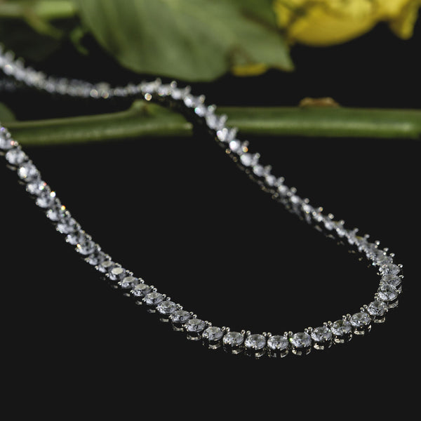 Tennis Chain 4mm White Gold