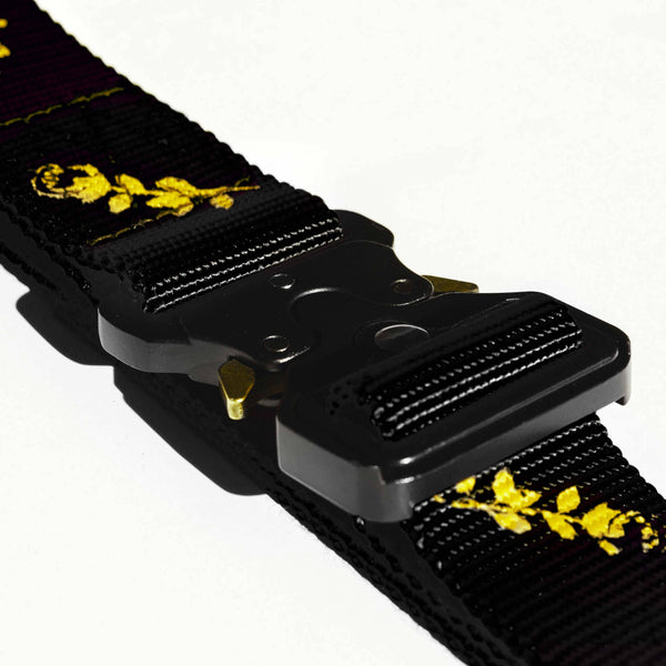 Webbing Belt w/ Alloy Buckle Black