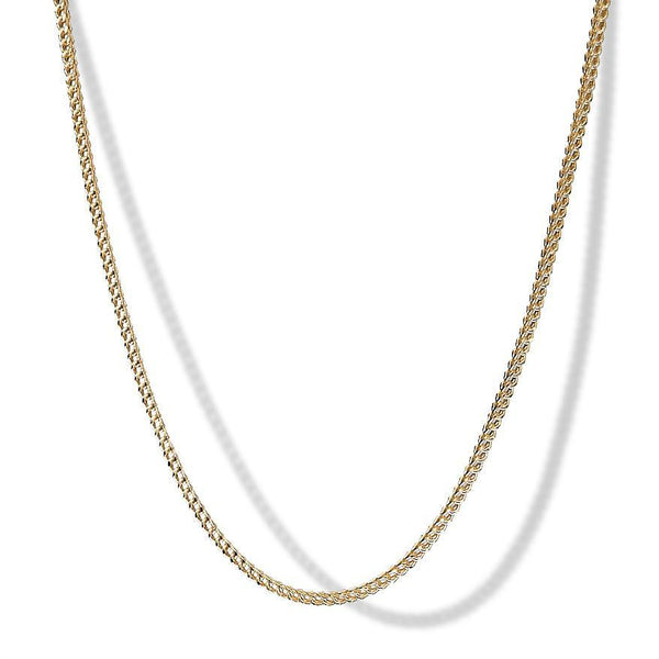 2mm 10k Yellow Gold Franco Chain