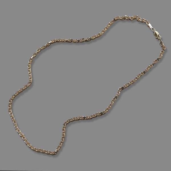 3mm 10k Yellow Gold Hermes Necklace