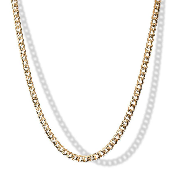 4mm 10k Yellow Gold Miami Cuban Chain