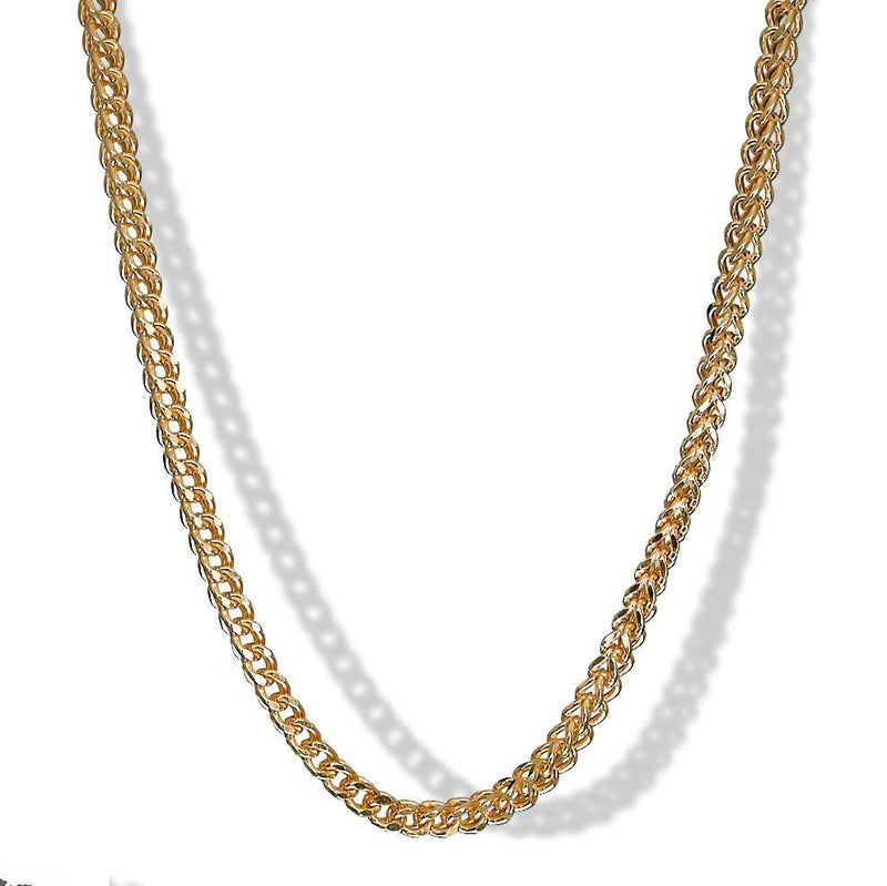 4.5mm 10k Yellow Gold Franco Chain