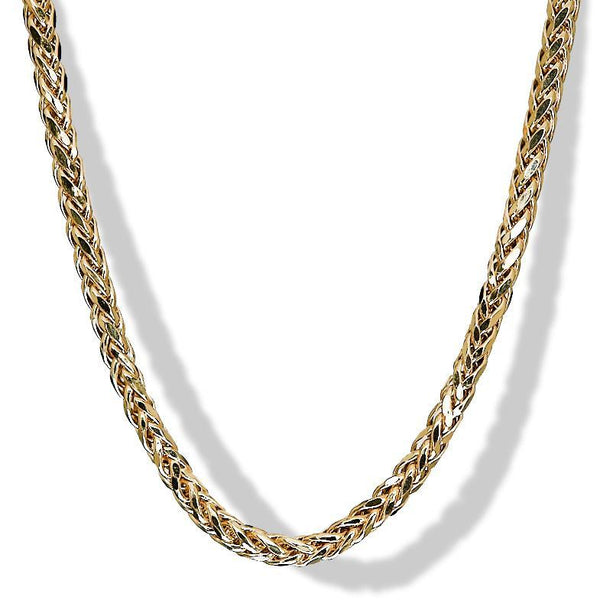 5mm 10k Yellow Gold Palm Chain