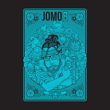 Load image into Gallery viewer, JoMo Senpai T-shirt design blue