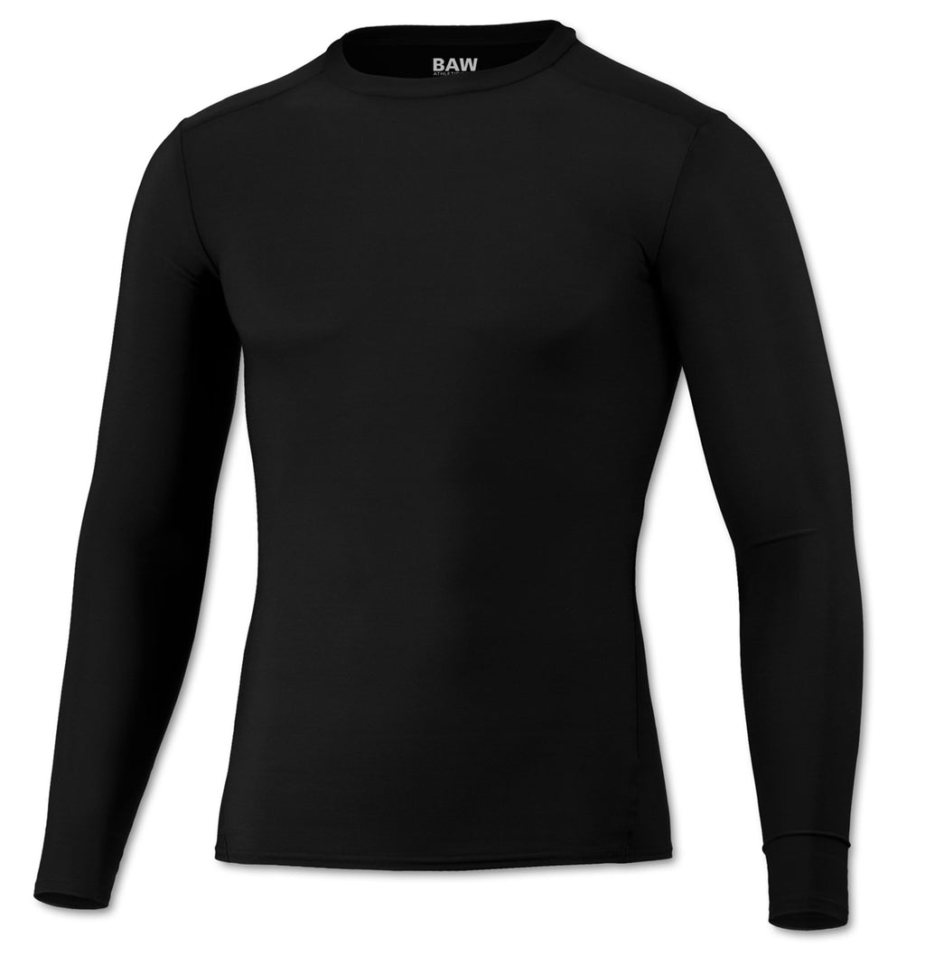 BAW Adult Compression Cool-Tek Long Sleeve Shirt