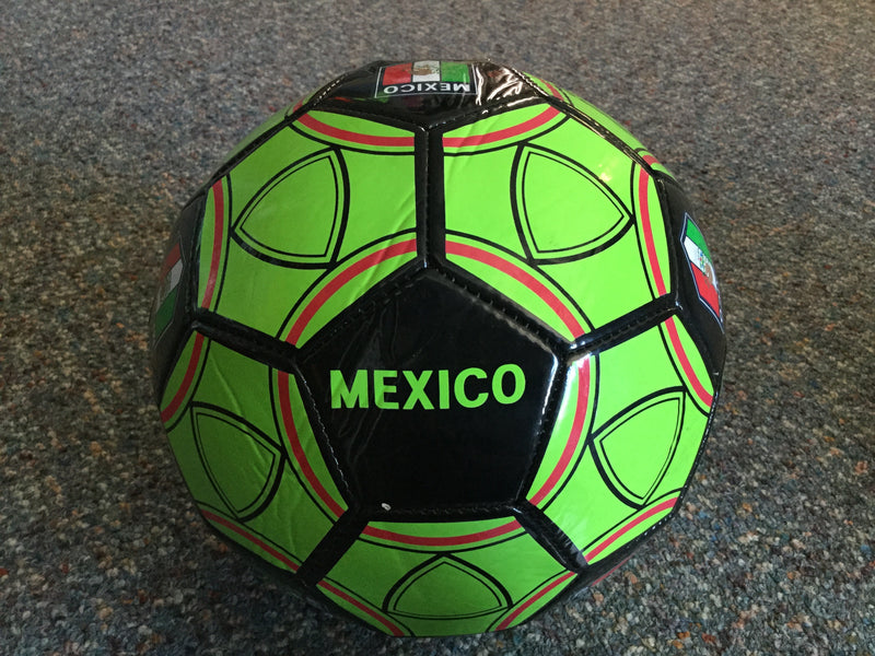 Black and Green Mexico size 5 ball