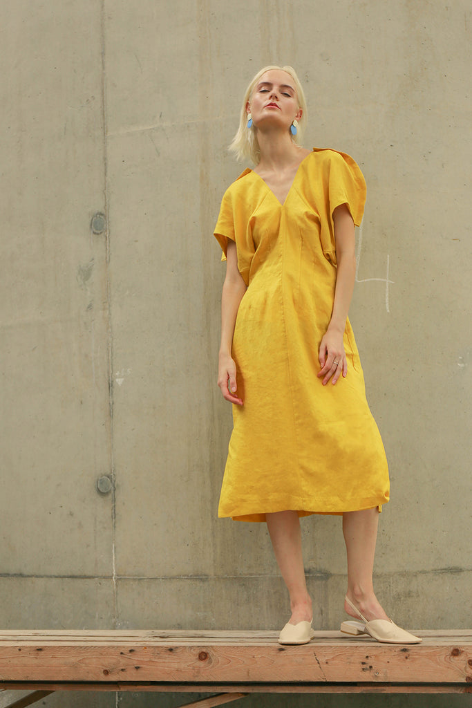 Bella Dress Yellow
