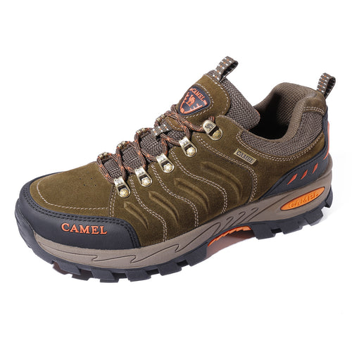 Men Cowhide Upper Hiking Shoes - CAMEL CROWN
