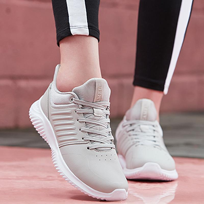 Women Lace Up Sporty Shoes - CAMEL