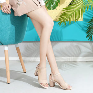 Women's Fashion Ankle-Strap & Square Toe Sandals - CAMEL