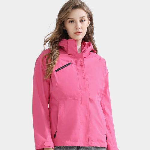 Women's Windproof Fashion 3-in-1 Jacket with Hood