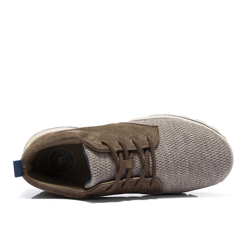 Men Flyknit Upper Splice Shoes - CAMEL