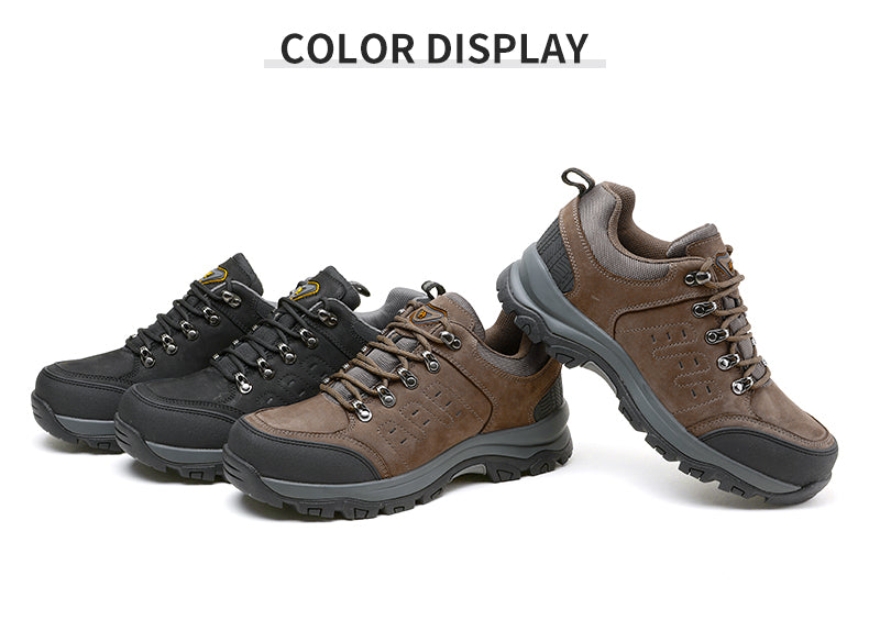 Men's Walking Shoes Breathable Hiking Shoes Trainers Anti Slip Lightweight Footwear Sneakers for Outdoor Trekking Climbing Running