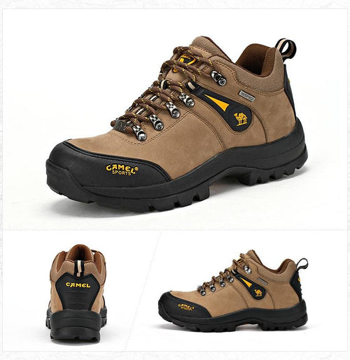 Men Outdoor Hiking Shoes Leather Anti-skid Breathable Climbing Trekking Hiking Sneakers