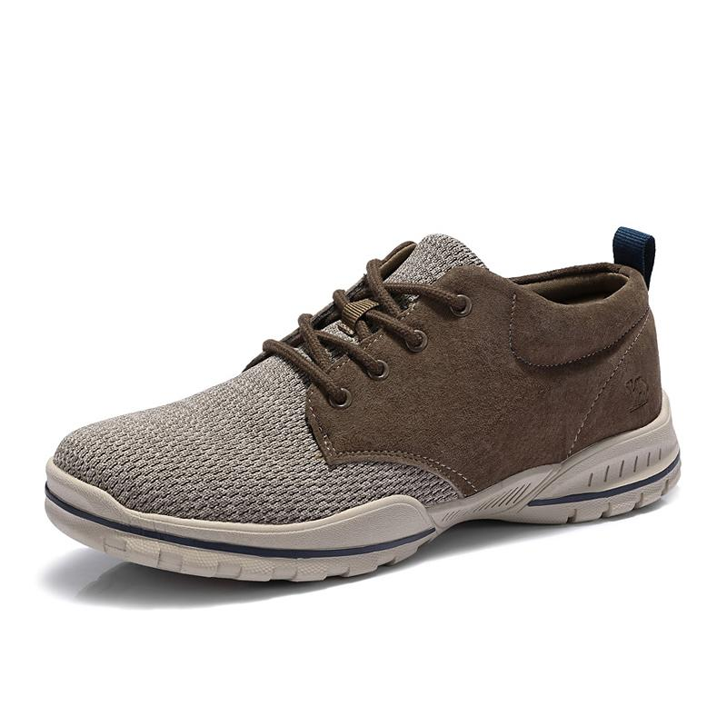 Men Flyknit Upper Splice Shoes - CAMEL CROWN