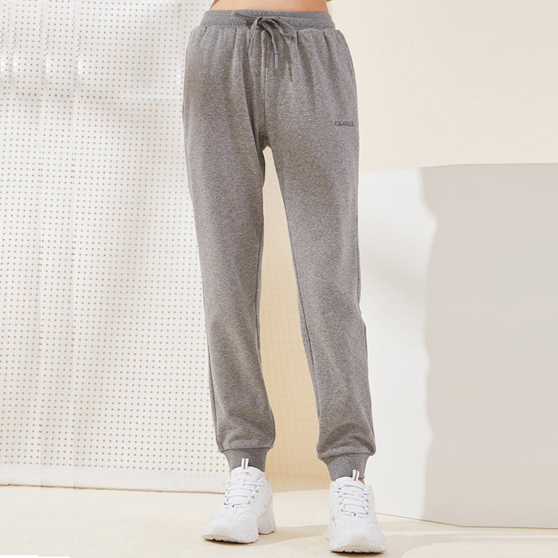 Women Warm Sweatpants Trousers Autumn Winter Plus Velvet Thickening Beam Casual Pants