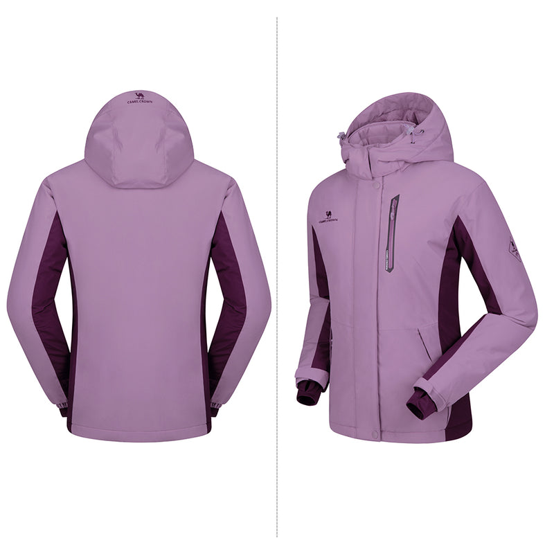 Women's Mountain Snow Waterproof Ski Jacket - CAMEL CROWN