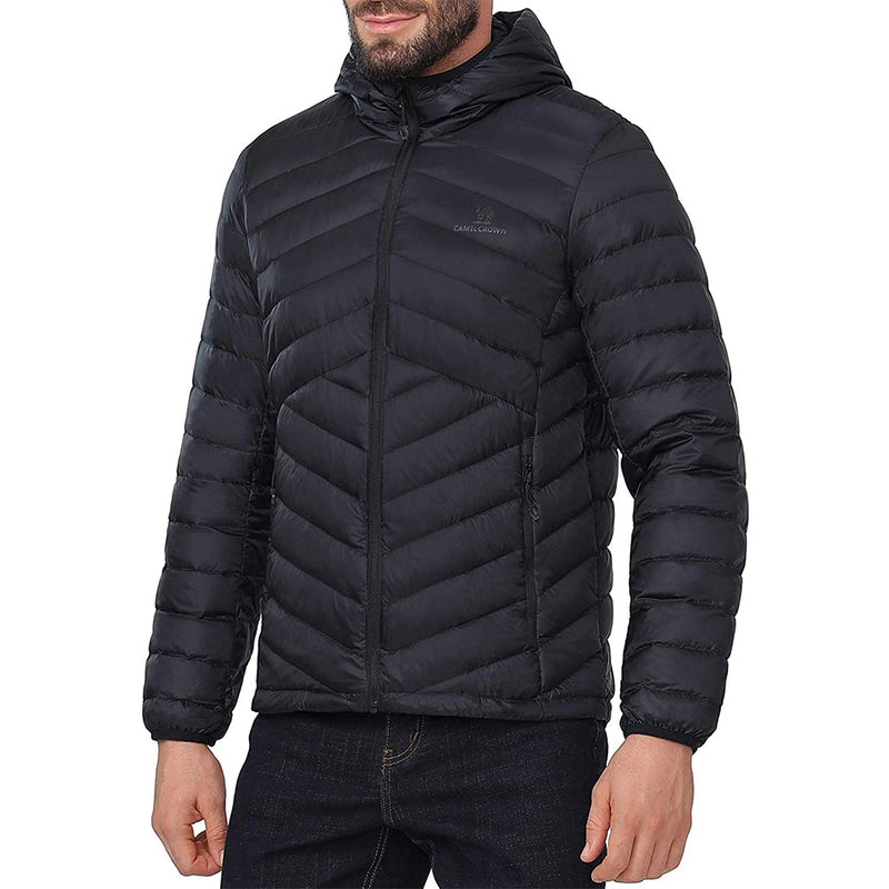 (US Only) Men's Packable Down Jacket Hooded Lightweight Puffer Insulated Coat