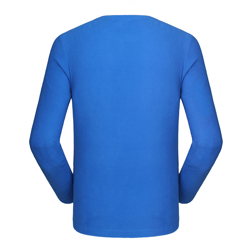 Men's Outdoor Sports Long Sleeve Fleece Shirt Autumn Thermal Hiking Shirts Couple Shirts