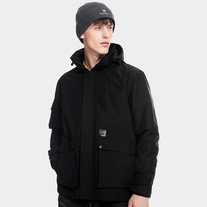 Outdoor Jacket Men 3 in 1 Detachable Two-piece Tide Waterproof Windproof Jackets Autumn Winter