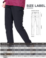 Womens Waterproof Softshell Fleece Lined Pants Windproof Ski Insulated Hiking Trousers - CAMEL