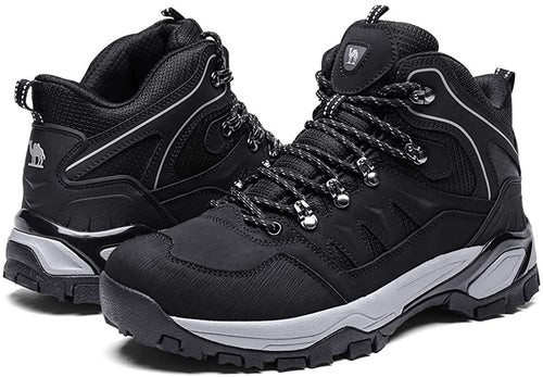 (US Only) Men's Mid-Top Hiking Boots Outdoor Lightweight Non-Slip Work Boots Backpacking Trekking Walking Trails