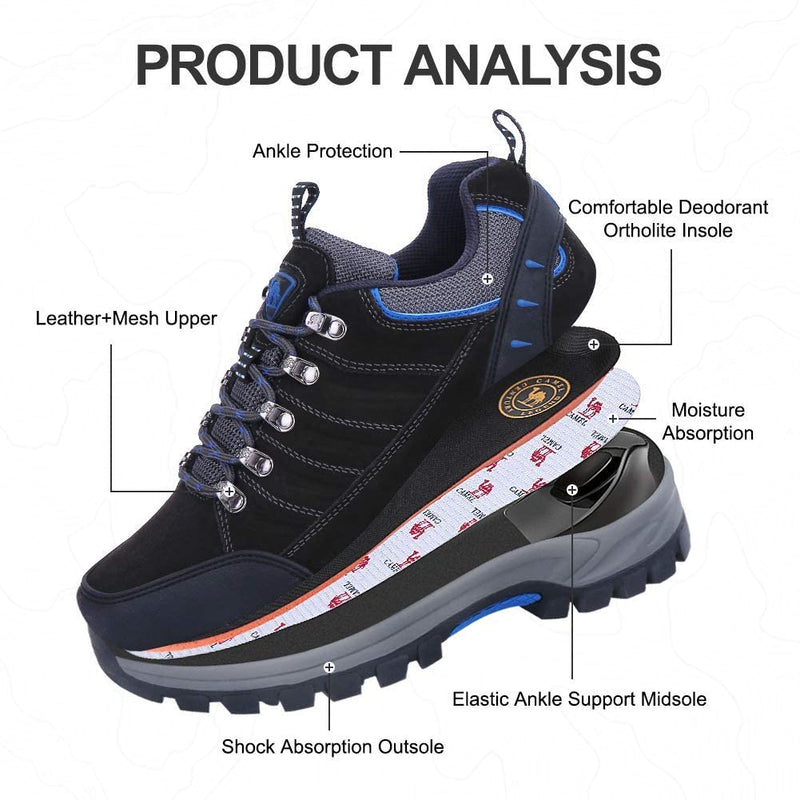 Men's Hiking Shoes Low-top Work Safety Shoes Non Slip Trainers Walking Shoes Trekking Climbing Outdoor