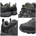 Men's Hiking Shoes Low Top Trekking Boots Non-Slip Walking Sneakers for Outdoor Work Trail Casual - CAMEL
