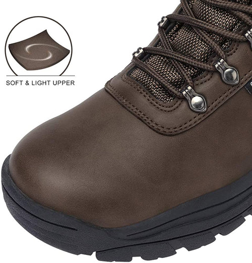 Men's Hiking Boots Mid Ankle Boot for Trail Outdoor Backpacking Trekking Rubber Sole