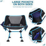 Portable Folding Camping Chairs with Carry Bag for Outdoor Camping Travel - CAMEL