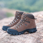 Men's Hiking Boots Outdoor Trekking Backpacking Genuine Leather Mid Hiker Boot