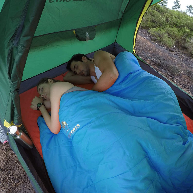 2 Person Waterproof Sleeping Bag for Backpacking, Camping, Hiking, Outdoor - CAMEL