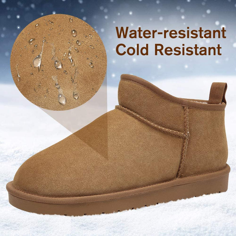 (US Only) Men's Slipper Boots Winter Warm House Shoes Indoor Outdoor Slippers Fur Lined Snow Boots Unisex