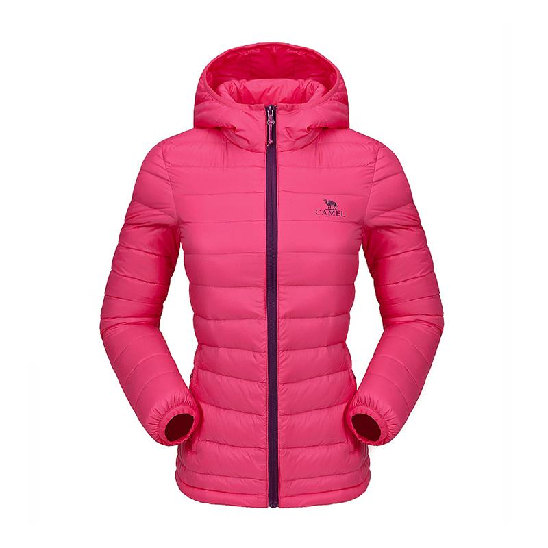 Women Winter Insulated Down Jacket - CAMEL