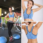 Women Zip Front Sports Bra (Lightly molded cups) - CAMEL CROWN
