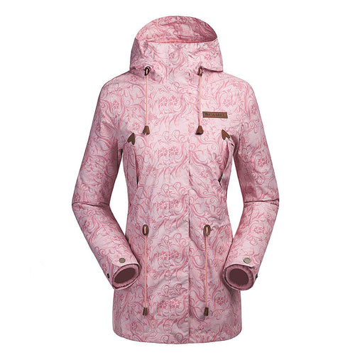 Women's 3 In 1 Printing Hooded Jacket - CAMEL CROWN