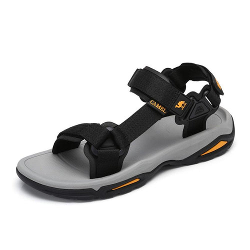 Men's Adjustable Strap Beach Sandals For Summer - CAMEL CROWN