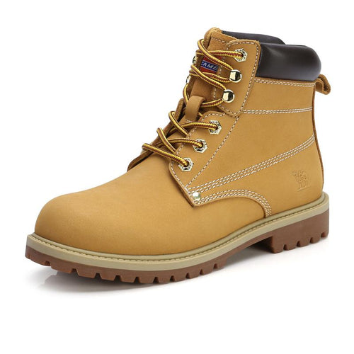 Women Winter Cowhide Upper Work Boots - CAMEL CROWN
