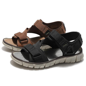 Men's Breathable Summer Leather Sandals - CAMEL