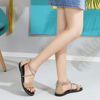 Women's Retro Platform Sandals For Summer - CAMEL