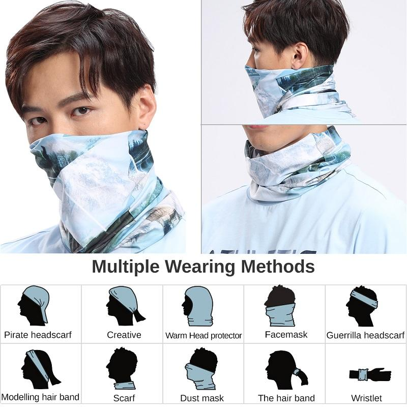 Bandana UV Protection Face Mask Neck Headband Dust Windproof - CAMEL