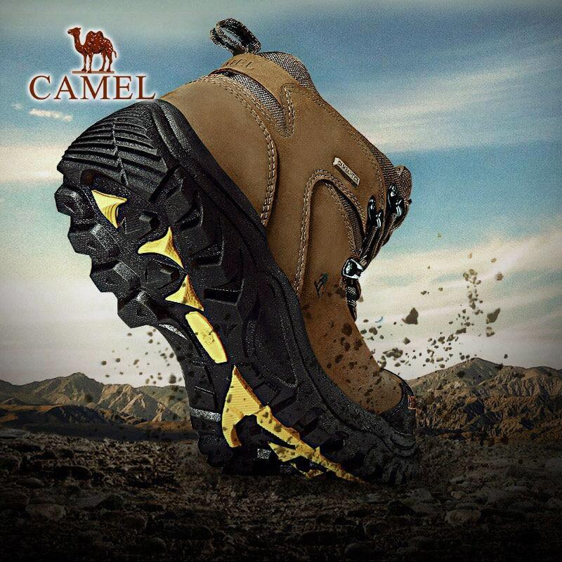 Men's Waterproof Hiking Shoes Non-Slip High Top - CAMEL