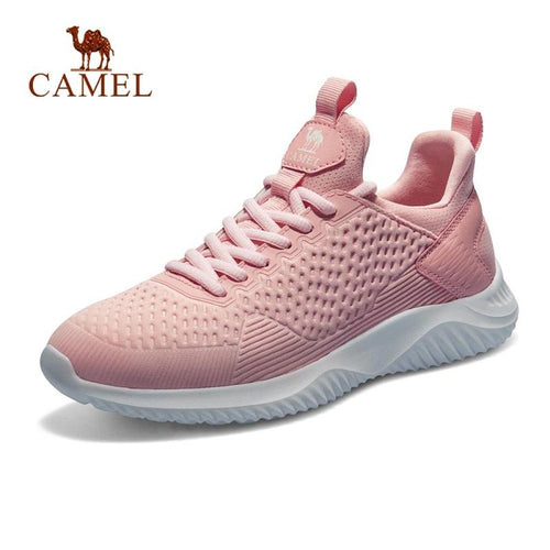Women's Ultralight Breathable Running Shoes Shock-Absorbing Sneakers - CAMEL