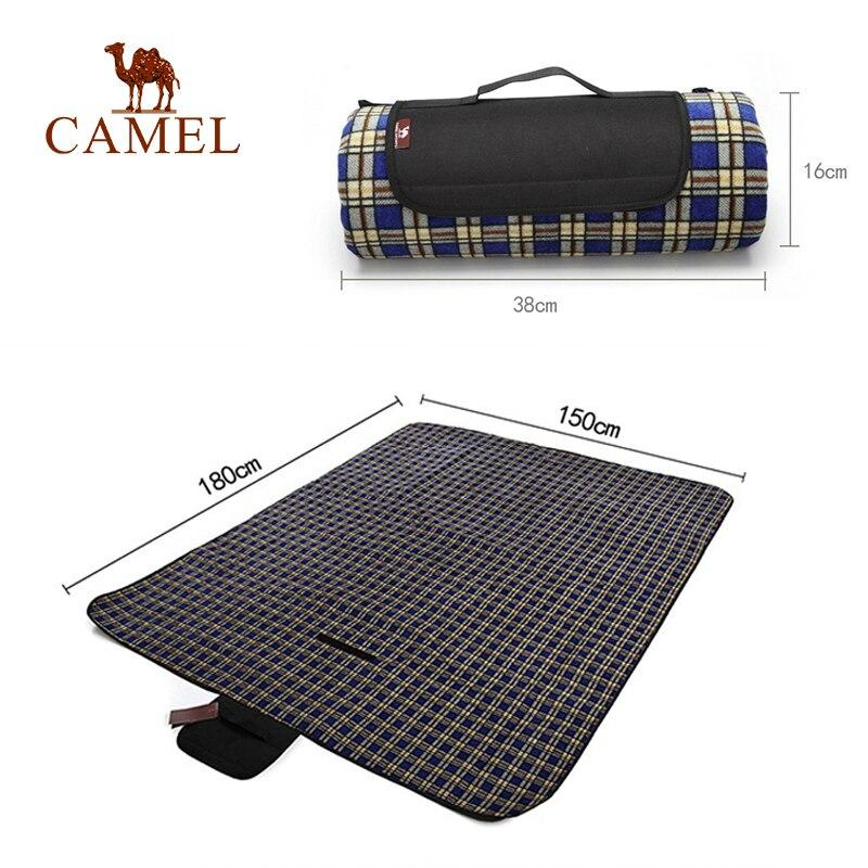 Plaid Picnic Blanket Large (70''x60'') Outdoor Beach Mat 180x150 CM - CAMEL CROWN