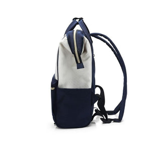 Classic Lightweight Backpack Unisex Blue Bag - Large - CAMEL