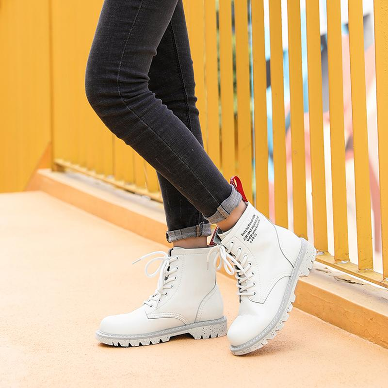 Fashion Ankle Work Boots for Women - CAMEL