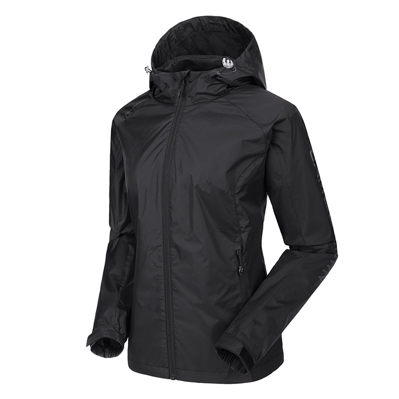 Women's Waterproof Lightweight Packable Rain Jacket